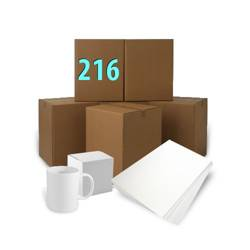 216 pcs White Mugs AA+ With Boxes + Ream Sublimation Paper A3 Sublimation Thermal Transfer