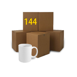 144 pcs white mugs A Sublimation Thermal Transfer
