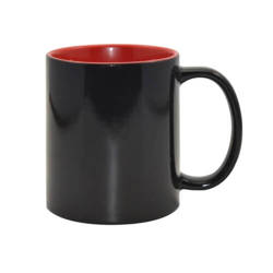 Magic mug 330 ml black with red interior Sublimation Thermal Transfer