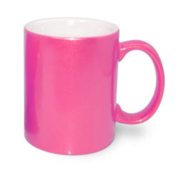 Mug 330 ml dark pink ALU Sublimation Thermal Transfer