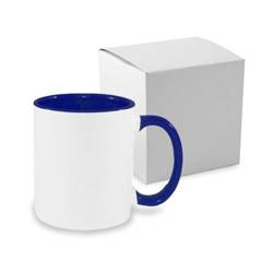 Mug A+ 330 ml FUNNY dark blue with box Sublimation Thermal Transfer