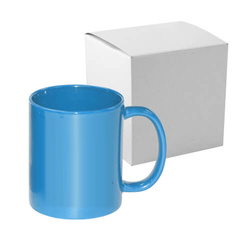 Mug Full Color - light blue, shiny with box Sublimation Thermal Transfer