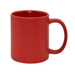 Mug Full Color - red, mat Sublimation Thermal Transfer