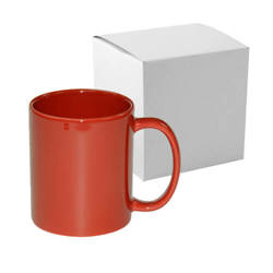 Mug Full Color - red, shiny with box Sublimation Thermal Transfer