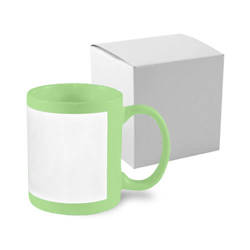 Patch mug 330 ml green with box Sublimation Thermal Transfer