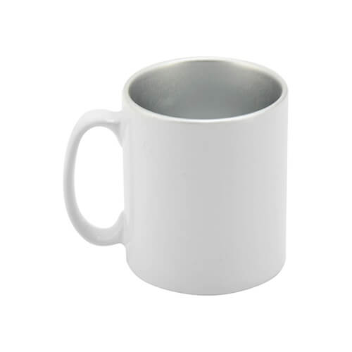 Mug 300 ml with silver interior Sublimation Thermal Transfer
