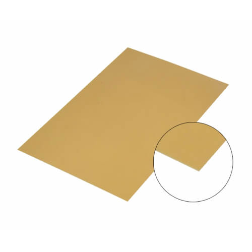 Gold Mirror Effect Aluminium Sheet A4 Sublimation Thermal