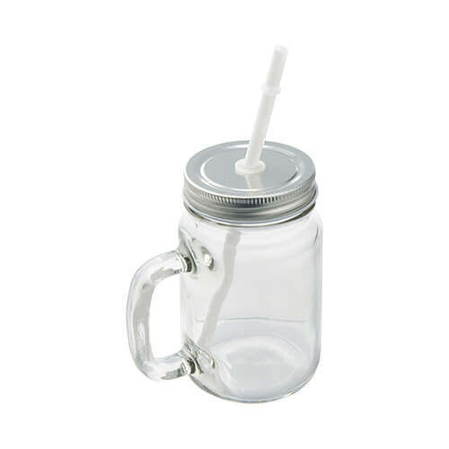 Mason Jar mug with straw for  sublimation printing
