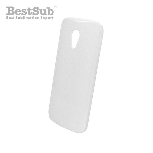 Motorola Moto G2 3D case white glossy Sublimation Thermal Transfer