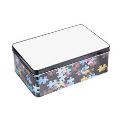 "A metal box with the ""Puzzle"" pattern Sublimation Thermal Transfer"
