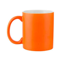 Mug fluorescent - orange matte Sublimation Thermal Transfer