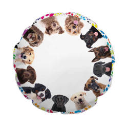 Ø 60 cm polyester cover for sublimation printing - Dogs