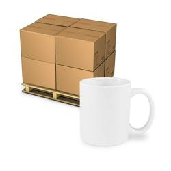 1152 pcs white Mugs A+ (PALLET) Sublimation Thermal Transfer