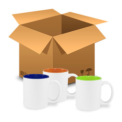 144 pcs colourful mugs 330 ml interior colour MIX Sublimation Thermal Transfer