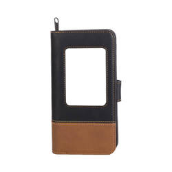 18,5 x 9,5 x 3,5 cm leather wallet for thermo-transfer printing