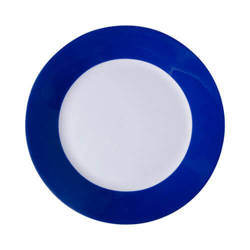 20,5 cm plate with blue edge lining for sublimation printing