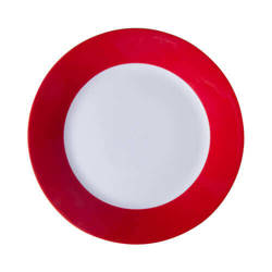20,5 cm plate with red edge lining for sublimation printing