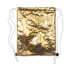 36 x 45 cm back sack with sequins for sublimation printing – gold