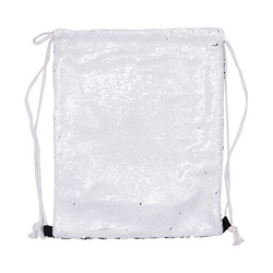 36 x 45 cm back sack with sequins for sublimation printing – white