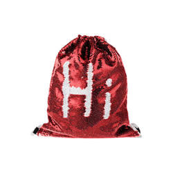 36 x 45 cm back sack with two-colour sequins for sublimation printing – red