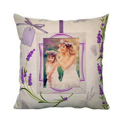 38 x 38 cm linen cover for sublimation printing - Lavender