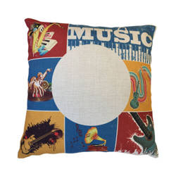 38 x 38 cm linen cover for sublimation printing - Old Music