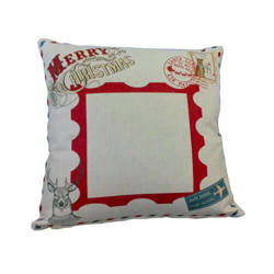 38 x 38 cm linen cover for sublimation printing - Postage stamp