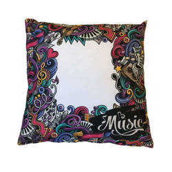 38 x 38 cm satin cover for sublimation printing - Mad Music