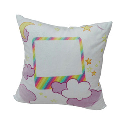 38 x 38 cm satin cover for sublimation printing - White unicorn