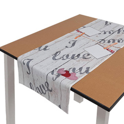 40 x 120 cm polyester table runner Sublimation Transfer - Love