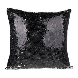 40 x 40 cm pillowcase with two colour of sequins for sublimation printing – black
