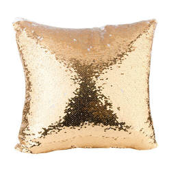 40 x 40 cm pillowcase with two colour of sequins for sublimation printing – gold