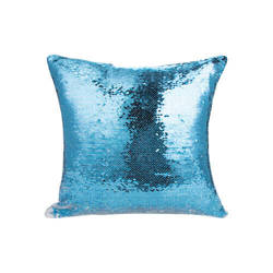 40 x 40 cm pillowcase with two colour of sequins for sublimation printing – light blue