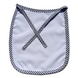 Baby bib Premium black strips Sublimation Thermal Transfer
