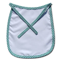 Baby bib Premium green strips Sublimation Thermal Transfer