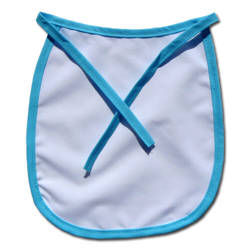 Baby bib Premium light blue trimming Sublimation Thermal Transfer