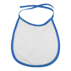 Baby bib with blue trimming Sublimation Thermal Transfer