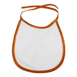 Baby bib with orange trimming Sublimation Thermal Transfer