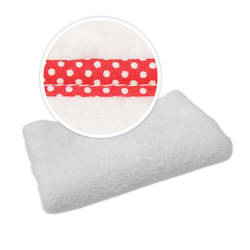 Blanket with red trimming in white polka dots Sublimation