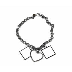 Bracelet heart and two squares Sublimation Thermal Transfer