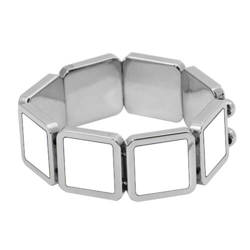 Bracelet with 9 metal plates Sublimation Thermal Transfer