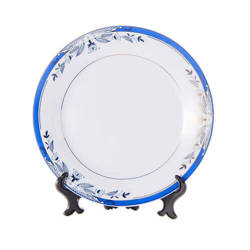 Ceramic plate 20,5 cm with blue ornament for sublimation printing