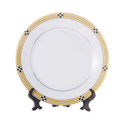 Ceramic plate 20,5 cm with golden ornament for sublimation printing