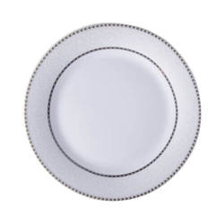 Ceramic plate 20,5 cm with silver ornament for sublimation printing