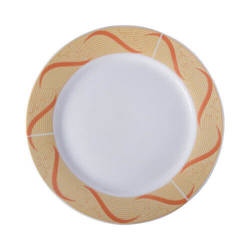 Ceramic plate 27 cm with golden ornament for sublimation printing