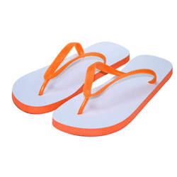 Children's  Photo Flip-Flops orange Sublimation Thermal Transfer