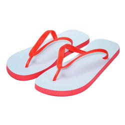 Children's Photo Flip-Flops red Sublimation Thermal Transfer