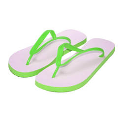 Children's  Photo Flip-Flops  size L green Sublimation Thermal Transfer