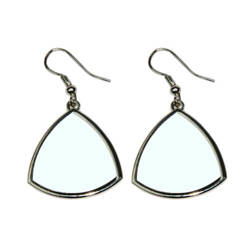Curved triangle earrings Sublimation Thermal Transfer
