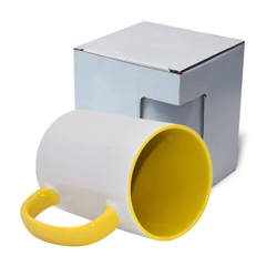 FUNNY mug MAX A+ 450 ml yellow with box KAR5 Sublimation Thermal Transfer